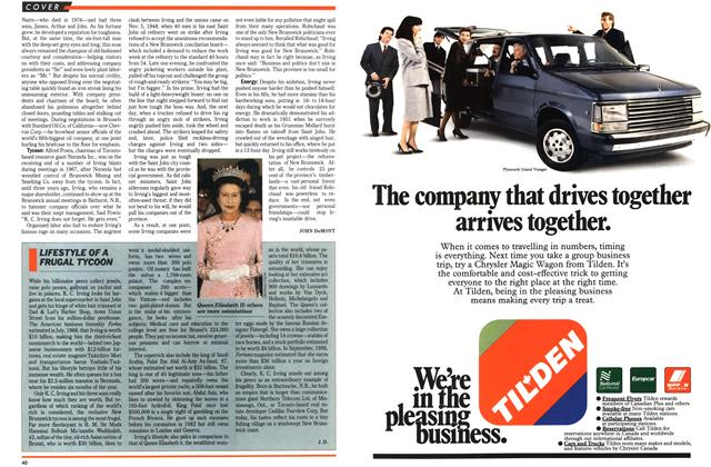 Article Preview: LIFESTYLE OF A FRUGAL TYCOON, February 1989 | Maclean's