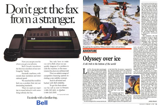 Article Preview: Odyssey over ice, February 1989 | Maclean's