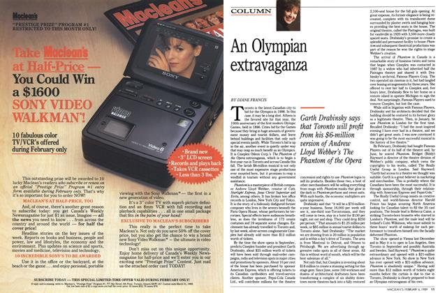 Article Preview: An Olympian extravaganza, February 1989 | Maclean's