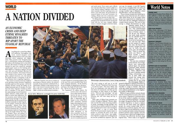 Article Preview: A NATION DIVIDED, February 1989 | Maclean's