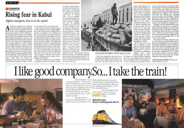 Article Preview: Rising fear in Kabul, February 1989 | Maclean's