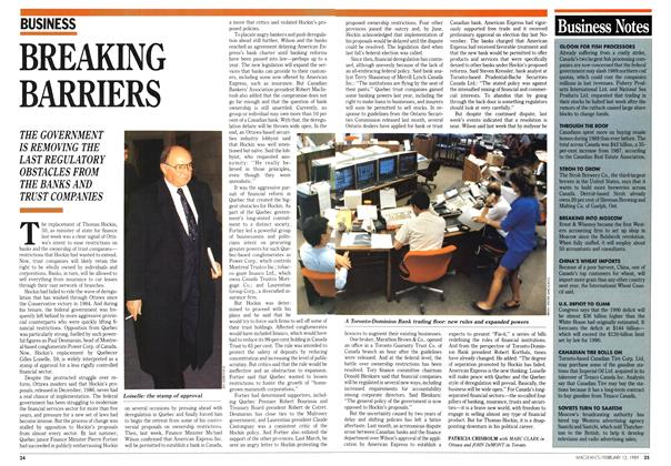 Article Preview: BREAKING BARRIERS, February 1989 | Maclean's