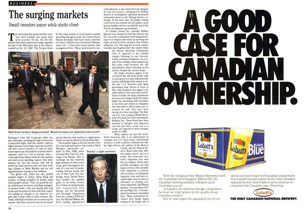 Article Preview: The surging markets, February 1989 | Maclean's