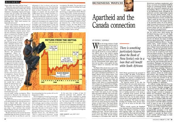Article Preview: Apartheid and the Canada connection, February 1989 | Maclean's