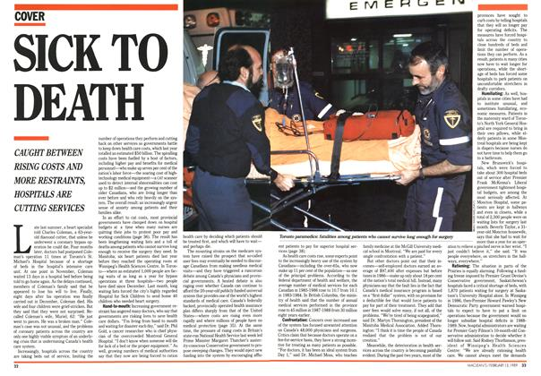 Article Preview: SICK TO DEATH, February 1989 | Maclean's