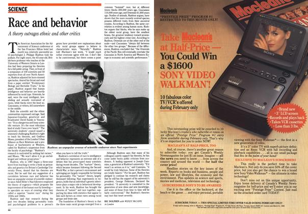Article Preview: Race and behavior, February 1989 | Maclean's