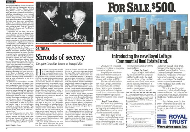 Article Preview: Shrouds of secrecy, February 1989 | Maclean's
