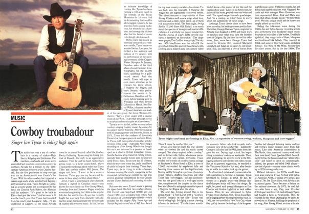 Article Preview: Cowboy troubadour, February 1989 | Maclean's