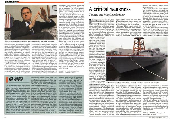 Article Preview: A critical weakness, February 1989 | Maclean's