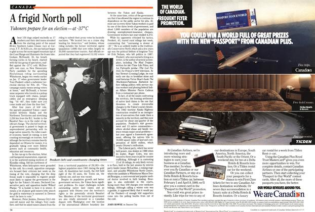 Article Preview: A frigid North poll, February 1989 | Maclean's