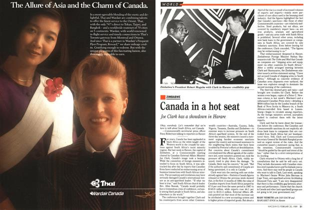 Article Preview: Canada in a hot seat, February 1989 | Maclean's