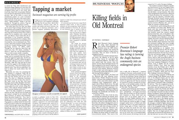 Article Preview: Tapping a market, February 1989 | Maclean's
