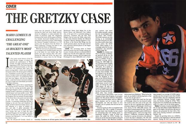 Article Preview: THE GRETZKY CHASE, February 1989 | Maclean's