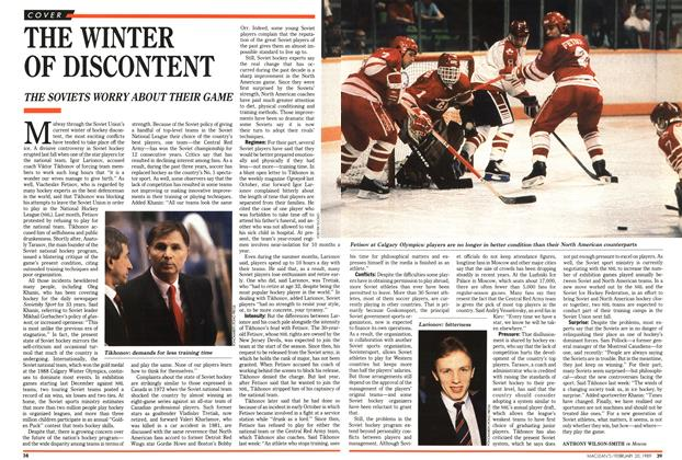 Article Preview: THE WINTER OF DISCONTENT, February 1989 | Maclean's