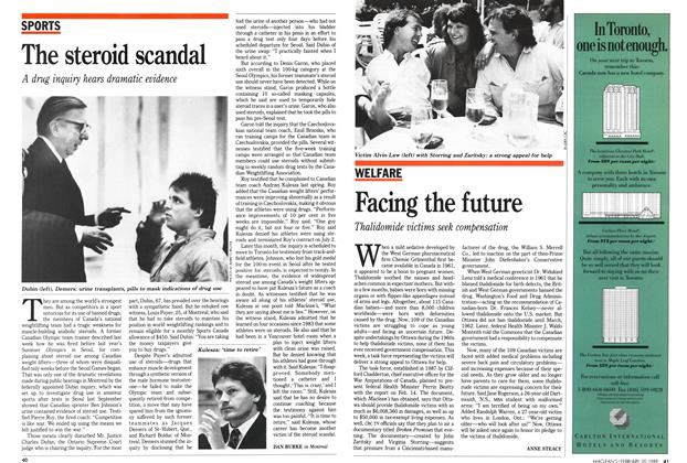 Article Preview: The steroid scandal, February 1989 | Maclean's