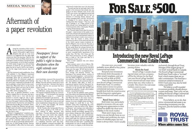 Article Preview: Aftermath of a paper revolution, February 1989 | Maclean's