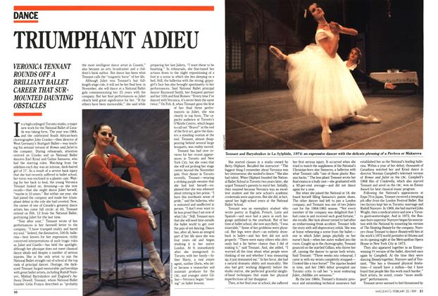 Article Preview: TRIUMPHANT ADIEU, February 1989 | Maclean's