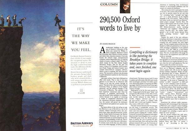 Article Preview: 290,500 Oxford words to live by, February 1989 | Maclean's