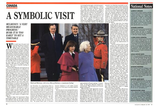Article Preview: A SYMBOLIC VISIT, February 1989 | Maclean's