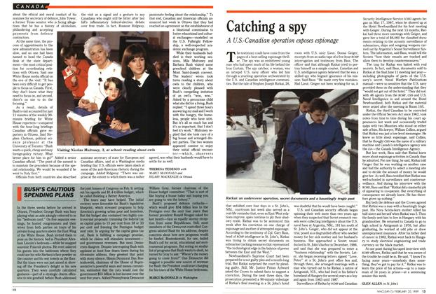 Article Preview: Catching a spy, February 1989 | Maclean's