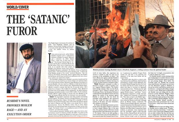 Article Preview: THE 'SATANIC' FUROR, February 1989 | Maclean's
