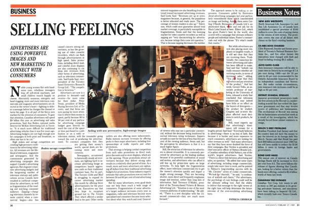 Article Preview: SELLING FEELINGS, February 1989 | Maclean's