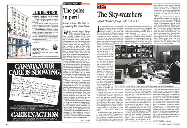 Article Preview: The Sky-watchers, February 1989 | Maclean's