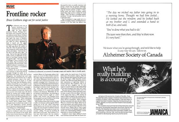 Article Preview: Frontline rocker, February 1989 | Maclean's
