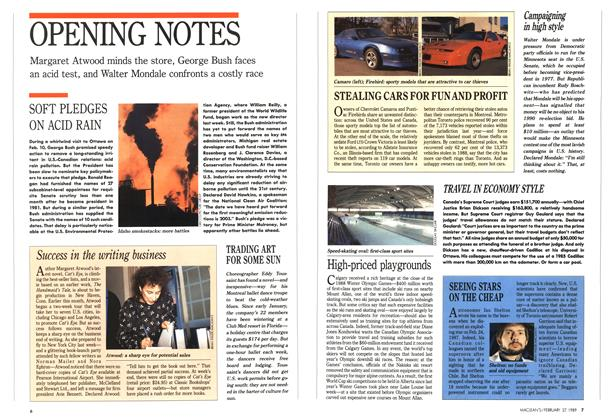 Article Preview: OPENING NOTES, February 1989 | Maclean's