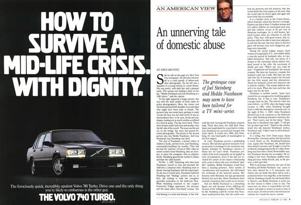 Article Preview: An unnerving tale of domestic abuse, February 1989 | Maclean's