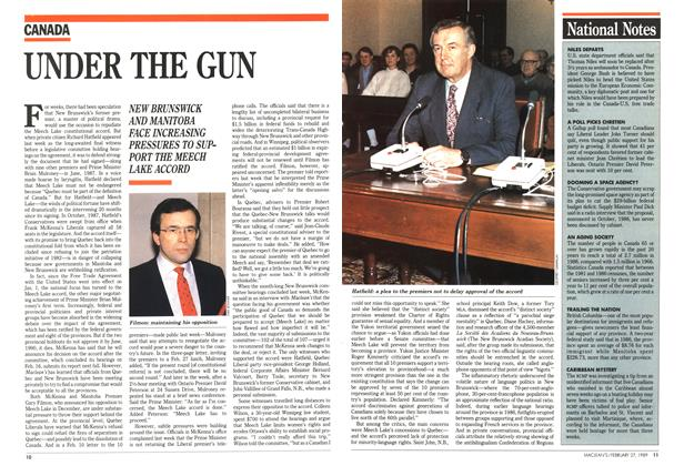 Article Preview: UNDER THE GUN, February 1989 | Maclean's