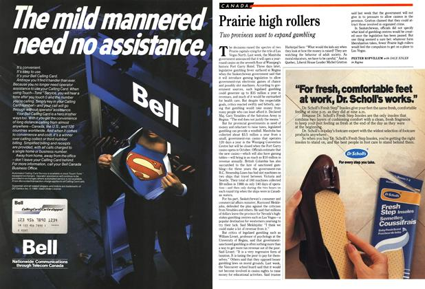 Article Preview: Prairie high rollers, March 1989 | Maclean's
