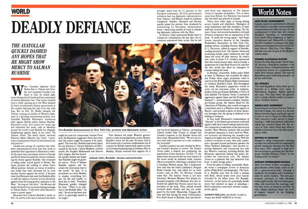 Article Preview: DEADLY DEFIANCE, March 1989 | Maclean's