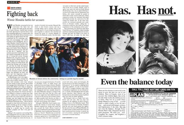 Article Preview: Fighting back, March 1989 | Maclean's