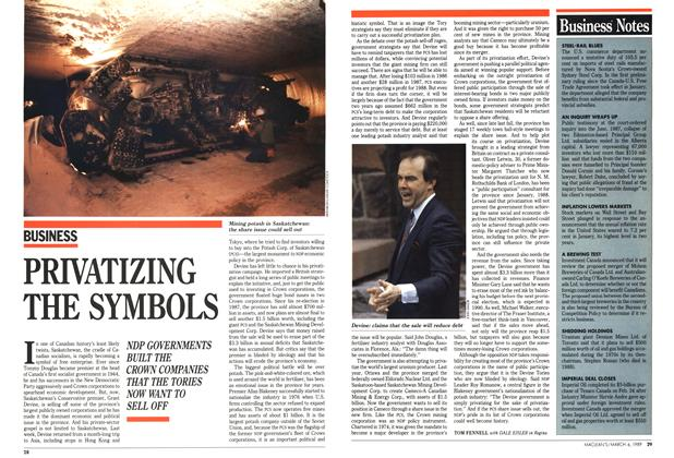Article Preview: PRIVATIZING THE SYMBOLS, March 1989 | Maclean's