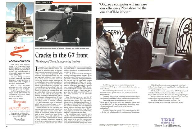 Article Preview: Cracks in the G7 front, March 1989 | Maclean's