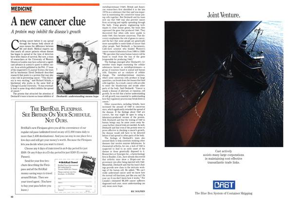 Article Preview: A new cancer clue, March 1989 | Maclean's