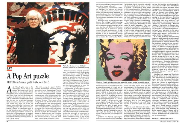 Article Preview: A Pop Art puzzle, March 1989 | Maclean's