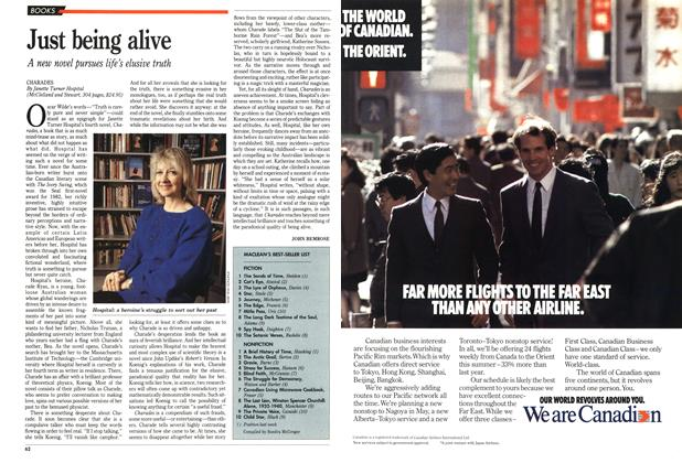 Article Preview: Just being alive, March 1989 | Maclean's