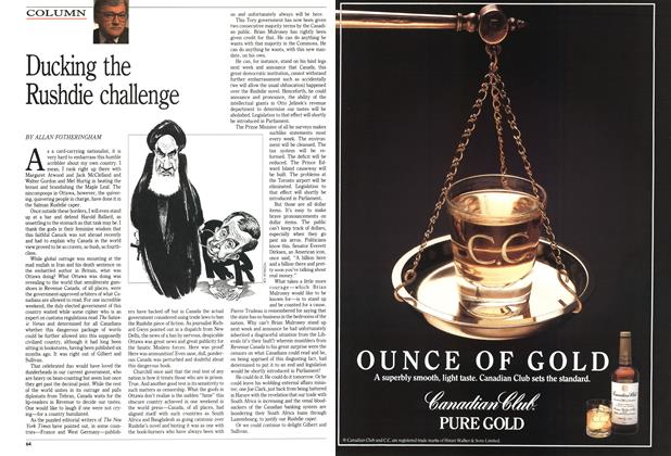 Article Preview: Ducking the Rushdie challenge, March 1989 | Maclean's