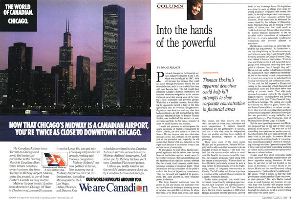 Article Preview: Into the hands of the powerful, March 1989 | Maclean's
