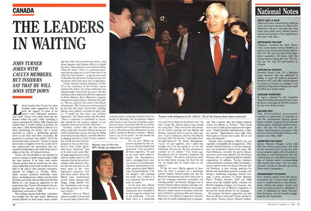 Article Preview: THE LEADERS IN WAITING, March 1989 | Maclean's