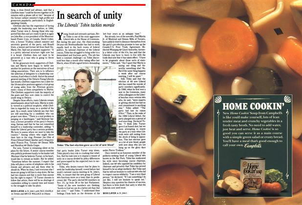 Article Preview: In search of unity, March 1989 | Maclean's