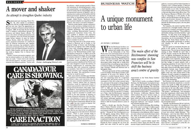 Article Preview: A unique monument to urban life, March 1989 | Maclean's