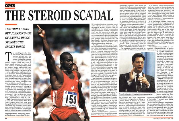 Article Preview: THE STEROID SCANDAL, March 1989 | Maclean's