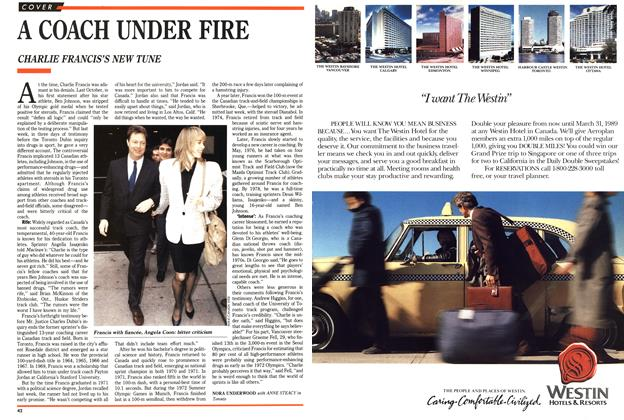 Article Preview: A COACH UNDER FIRE, March 1989 | Maclean's