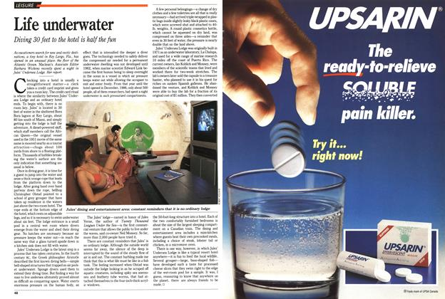 Article Preview: Life underwater, March 1989 | Maclean's