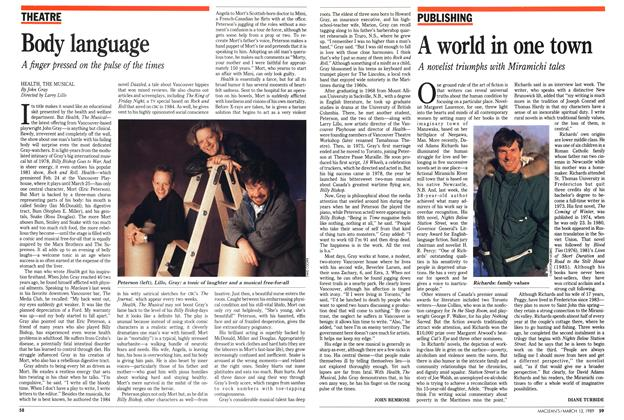 Article Preview: Body language, March 1989   Maclean's