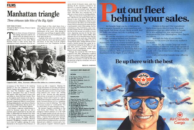 Article Preview: Manhattan triangle, March 1989 | Maclean's