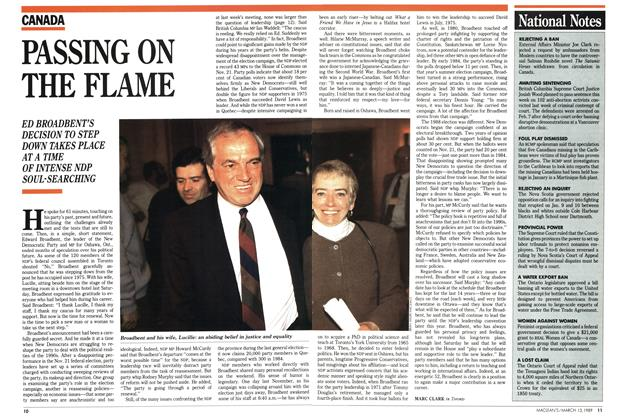 Article Preview: PASSING ON THE FLAME, March 1989 | Maclean's
